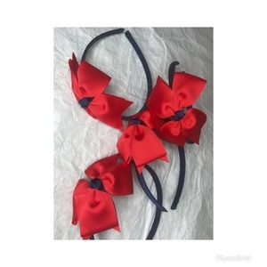 Other - Red and navy little girl's headband